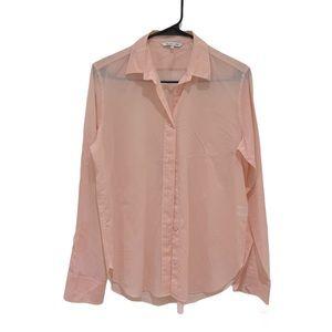Helmut Lang pink button down cotton shirt medium